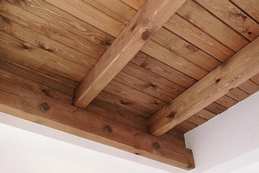 Techo de madera maciza, carpintería en Murcia